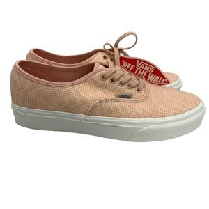 NWT Vans Authentic Woven Check Canvas Sneakers
